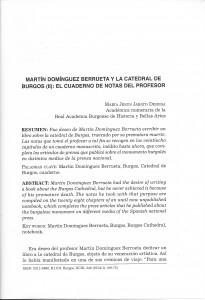 Martín Domínguez Berrueta y la catedral de Burgos (II): loc cuadernos de notas del profesor