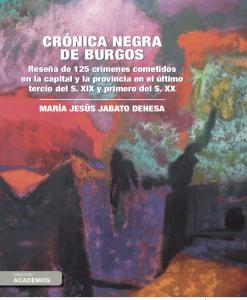 Portada Crónica negra de Burgos